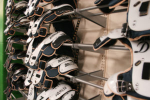 Athletic equipment storage
