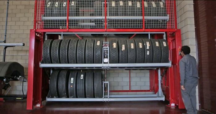 vertical tire carousel